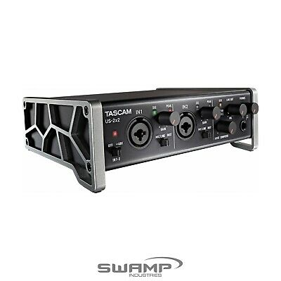 TASCAM US-2X2 2-in 2-out Audio MIDI Interface for Mac, Windows and iOS iPad USB