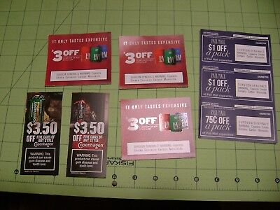 $18.75 of  L&M, PALL MALL, COPENHAGEN COUPONS
