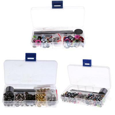 Box 3/5/8mm Eyelets & Eyelet Punch Die Tool Set for Leather Craft Clothing Shoes