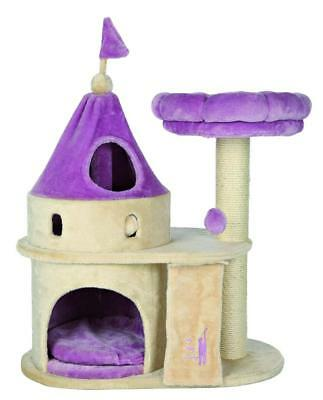 Trixie My Kitty Darling rayer Castle, 90 cm, Beige/lilas