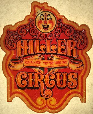 """Vintage 70s """"Hiller Circus"""" Iron-On Transfer Cool"""