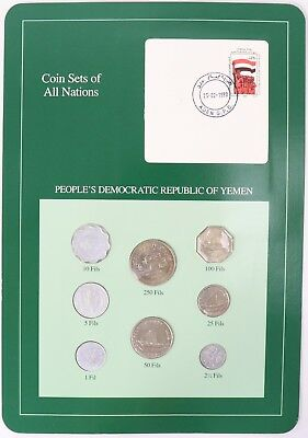 Yemen - Coin Sets of All Nations Franklin Mint Postal 8-Coin Panel 1964-1984