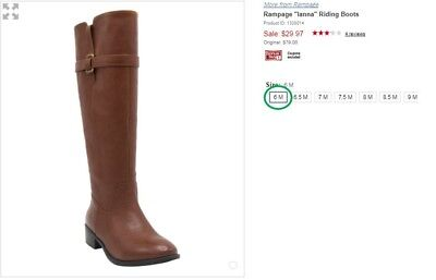 "***Brand new in Box*** Rampage ""Ianna"" Riding Boots size 6"