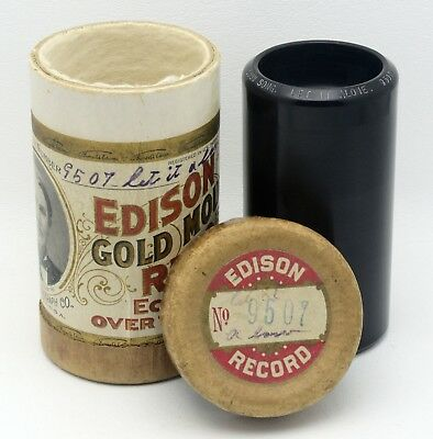 """Edison  Cylinder #9507 """"Let It Alone""""  Plays Great  Excellent Condition"""