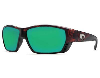1222143ba61 New Costa Del Mar Tuna Alley Polarized Sunglasses 400G Glass Tortoise Green  Mirr