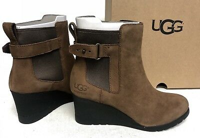 a6491b8cb5c UGG AUSTRALIA WOMEN'S Indra Waterproof Wedge Boots Booties Ankle 1017423  Stout