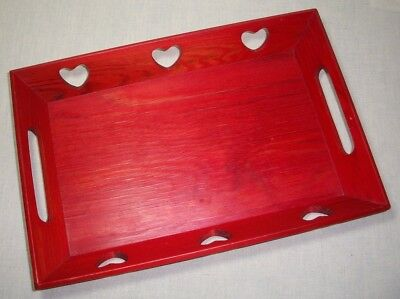 "Swedish Wood 12""x 8"" Serving Tray Heart Design Sweden"
