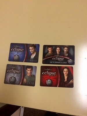 Twilight Eclipse Burger King Collectible Gift Card Lot of 4 (Never Used)