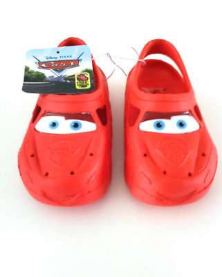 NEW Toddler Boys DISNEY CARS Swim Shoes Red Clogs Crocs Beach Pool NWT