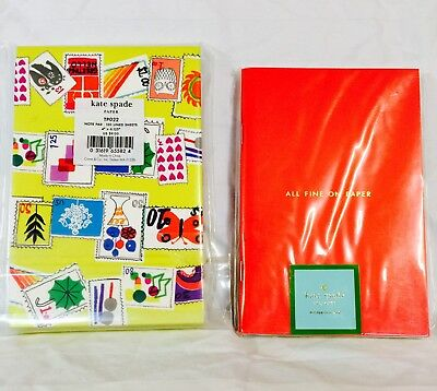 NEW Kate Spade Set Paper Notebook Notepad Three Gift Office New With Tags