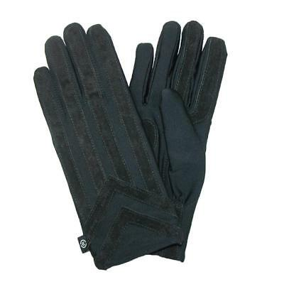 MENS Isotoner ML OR XL Classic Stretch Gloves Knit Lined BLACK NEW