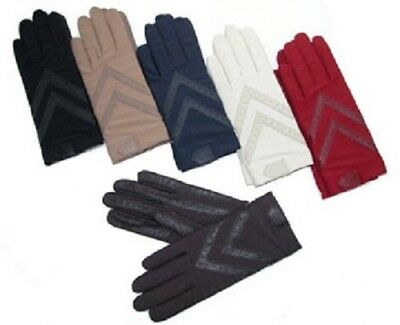 Ladies Isotoner UNLined Stretch Driving Gloves COLORS Brown Red Gray Navy Camel