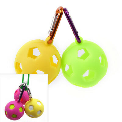 Golf ball cover silicone ball sleeve keyring rubber key chains random color JR