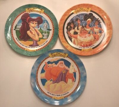 3 Vtg 1997 Disney Hercules 9 Inch Plates Mcdonald's Collectibles Used