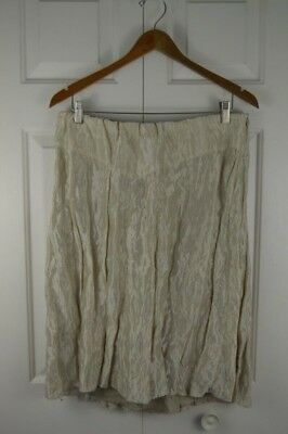 A Pea in the Pod Maternity Large Skirt Holiday Dressy Tan Metallic NEW USA
