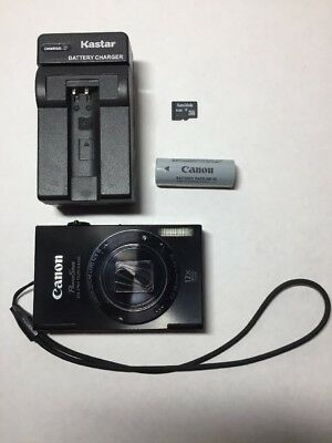 Canon PowerShot ELPH 520 HS / IXUS 500 12 zoom Digital Camera Black with charger