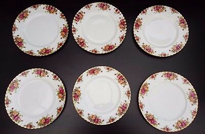 Royal Albert OLD COUNTRY DESSERT PLATES X 6    ORIGINAL BACKSTAMP, 1ST QUALITY
