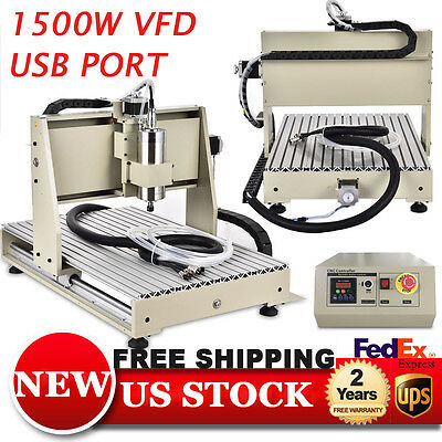 CNC Router 3Axis Engraver USB 6040T Engraving Cutter Machine High Precision UPS