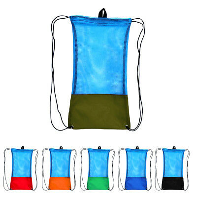 Drawstring Storage Carry Mesh Bag for Diving Scuba Snorkeling Equipment Gear