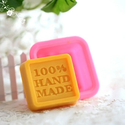 Neu 100% Handmade Quadratische-Silikon Seifen Form Mould DIY Hand Made Soap Mold