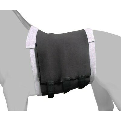 Tough-1 Mini Belly Sweat PVC/Neoprene with Fleece Bottom for Mini Horses Black