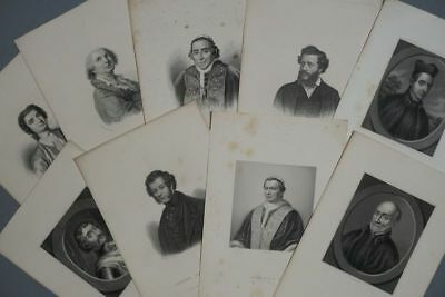 11 Porträts - Italien Stahlstich Italy Portrait Engravings Music Cooking - 1830