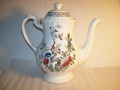 J & G Meakin Kashmir Teapot Staffordshire England Floral 9 Inches