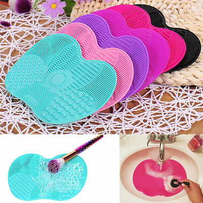 Pro Silicone Makeup Brush Cleaner Cleaning Cosmetic Scrubber Board Mat Hand Tool