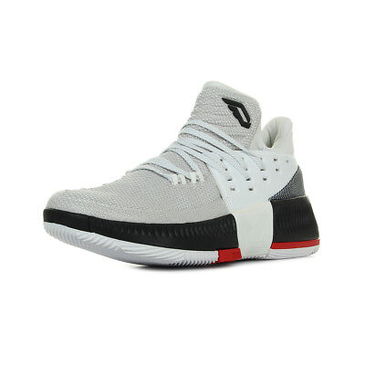 Chaussures adidas homme D Lillard 3 Basketball taille Beige Textile Lacets