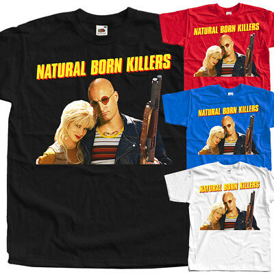 Natural Born Killers, movie poster, T SHIRT BLACK BLUE RED all sizes S to 5XL