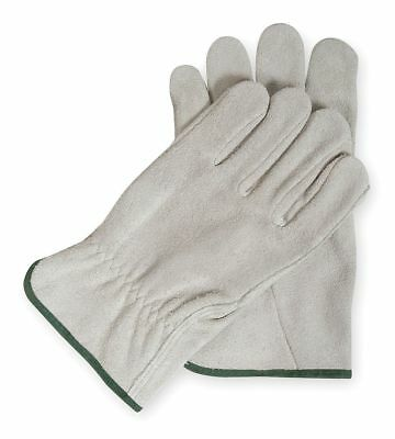 Condor Cowhide Leather Driver's Gloves with Shirred Cuff, Gray, 2XL - 2MCZ3