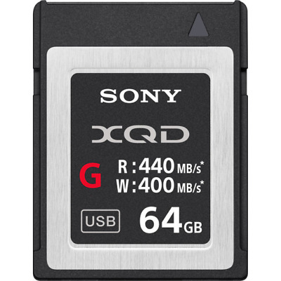 Sony 64GB G Series Up To 440MB/s Read & 400MB/s Write XQD Memory Card