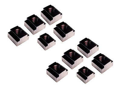 LOT OF 10 Only @SF BLACK OXIDE FINISH TEE NUT M10 TO SUIT 12 MM SLOT