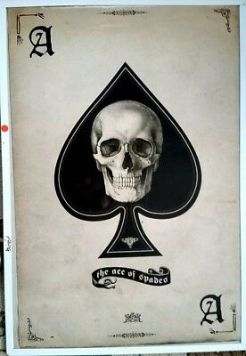 THE ACE OF SPADES Skull Death Card  24 x 36 UK Import Poster.