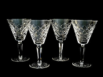 Waterford Crystal Tyrone Vintage Water Goblets Glasses