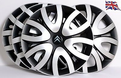 "CITROEN, 4 x 16 INCH ALLOY LOOK CAR WHEEL TRIMS / COVERS,16"" HUB CAPS, model QL7"