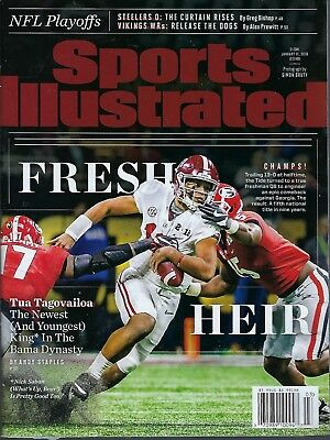 Sports Illustrated January 15, 2018 Alabama NCAA Champions  Tua Tagovailoa
