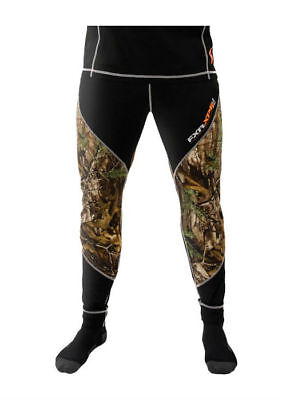 FXR Vapour 20% Merino Long Underwear Base Layer Pants Black/RealTree Camo Woods