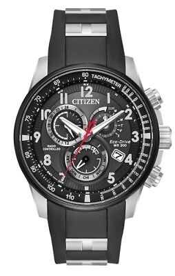 New Citizen Eco Drive Pcat Radio Controlled Perpetual Chrono Black At4138-05E