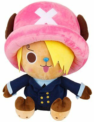 "One Piece Tony Chopper Costume Sanji Authentic Stuffed Plush Doll 10""."