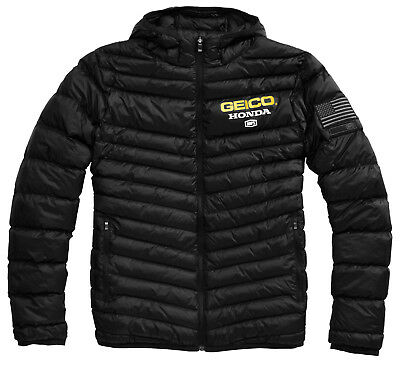 100% Geico Honda Delta 1 Puffer Jacket Black Team Coat Motocross Racing MX