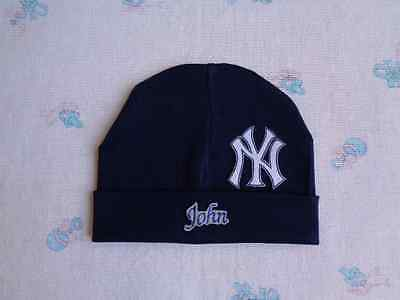 New York Yankees Personalized Baby Hat (0-2 year)