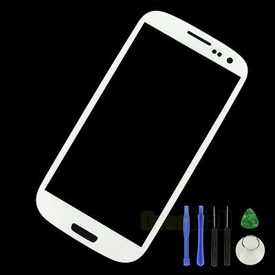 White Replacement LCD Screen Outer Glass Lens Samsung Galaxy S3 i9300 I747 T999