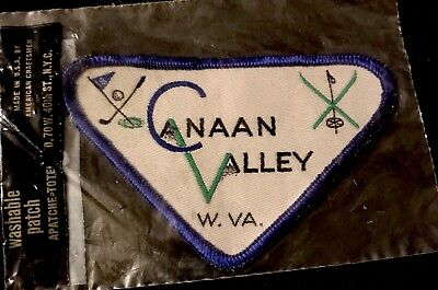 CANAAN VALLEY Skiing Ski Patch West Virginia WV Resort Souvenir Travel NOS