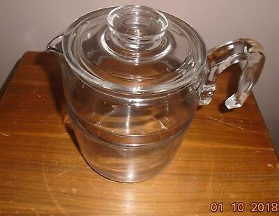 Vintage 9-Cup PYREX Flameware Coffee Pot & Lid Only #7759-B Made in USA