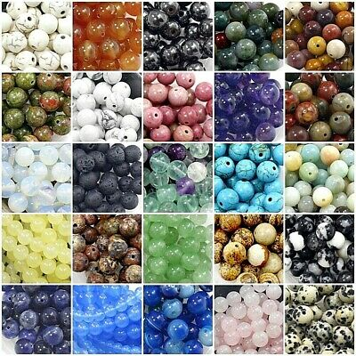 Gemstone Round Beads 4mm 100pcs 6mm 8mm 10mm 12mm Natural Loose High Quality