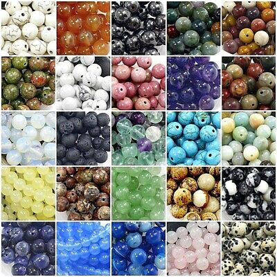 Wholesale Lot! Natural Gemstone Round Loose Beads 4mm 6mm 8mm 10mm 12mm