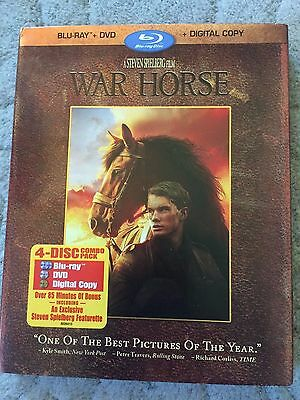 WAR HORSE (Blu-ray/DVD, 2012, 4-DVDs, Includes Digital Copy) BRAND NEW free ship