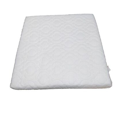 DURAFOAM Wedge Pillow Foam Support with Quilted Cover - Grade A Foam, White