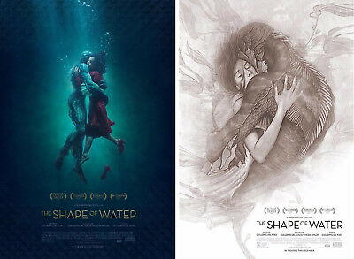 """The Shape of Water (2017) ***Original Movie Poster Set of 2 / Size: 13.5""""""""x20"""""""